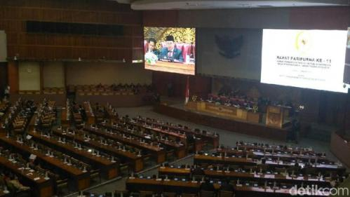 310 Anggota DPR Absen di Paripurna Awal Tahun