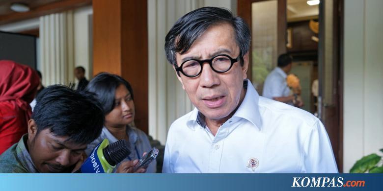Dakwaan Kasus Korupsi E-KTP, Yasonna Disebut Terima 84.000 Dollar AS - Kompas.com